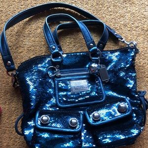 Coach Poppy Sequin LIMITED ED Spotlight in Blue